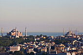 'Aya Sofia and Blue Mosque in Sultanahmet, old city; Istanbul, Turkey'