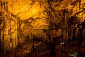 'Inside Neptune's Grotto in Capo Caccia; Alghero, Sardinia, Italy'