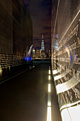 'Empty Sky: New Jersey September 11th Memorial at sunset, Liberty State Park; Jersey City, New Jersey, United States of America'