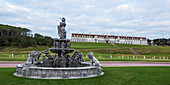 'Water fountain and Turnberry Hotel at Trump Turnberry golf resort; Turnberry, Scotland'