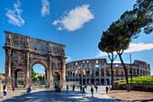 Arch of Constantine, Colosseum, Forum Romanum, Rome, Latium, Italy
