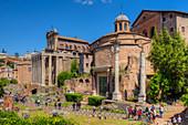 Temple of Antonius and Faustina, Temple of Romulus, Forum romanum, Rome, Latium, Italy