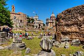 Senators palace, Arch of Septimus Severus, Forum romanum, Rome, Latium, Italy
