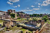 Temple of Antonius and Faustina, Palatine hill, Forum romanum, Rome, Latium, Italy