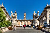 Piazza del Campidoglio, Senatorenpalast, Rom, Latium, Italien