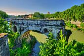 Brdige Ponte Rotto, Tiber, Rome, Latium, Italy