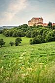 the Kapfenburg castle, Lauchheim around Aalen, Ostalb district, Swabian Alb, Baden-Wuerttemberg, Germany