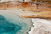 Hot spring in Yellowstone National Park, Wyoming, USA