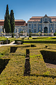 The gardens of the royal residence of Pal?ício de Queluz surrounded by sculptures and statues Lisbon Portugal Europe