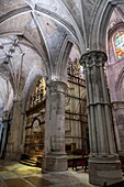 Detail of vault of Cathedral of Our Lady of Grace and Saint Julian of Cuenca. Castilla-La Mancha, Spain.