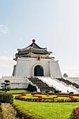 The view of Chiang Kai-shek memorial hall in Taipei.
