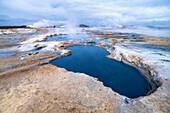 Namafjall geothermal area. Þjóðvegur. Iceland.