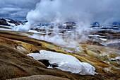 Geothermal areas, Hrafntinnusker, Central Highlands Iceland.