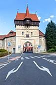 Fortification, Old town, Zatec gate, Louny, Northern Bohemia, Czech Republic.
