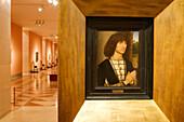 Spain, Madrid, Thyssen Bornemisza Museum, Gentleman at Prayer by Hans Memling (15th century)