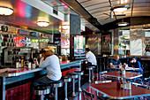 United States, Illinois, Chicago, Salt and Pepper Diner, Art deco restaurant next to the Chicago Cubs baseball stadium