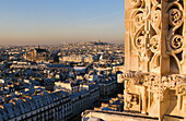 France, Paris, general view with gargoyles of Saint Jacques Tower