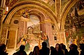 Italy, Umbria, Spello, Santa Maria Maggiore church, Baglioni's Chapel with Pintoricchio's fresco, Annunciazione