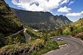 France, Reunion island (French overseas department), Parc National de La Reunion (Reunion National Park), listed as World Heritage by UNESCO, access road to the cirque de Cilaos