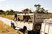 Botswana, North-west district, Chobe National Park, Savuti arid region, safari