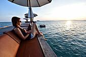 woman in Hotel on Ko Yao Yai Island in the Andaman Sea, Thailand