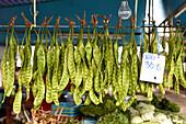 Zuckerschoten auf Food Markt auf Phuket, Thailand
