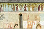 Fresco Death dance at church San Vigilio in Pinzolo, Pinzolo, Adamello-Presanella Group, Trentino, Italy