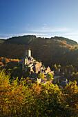 Niederburg castle near Mandersteid, Eifelsteig hiking trail, Eifel, Rhineland-Palatinate, Germany