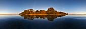 180° Panorama of Lake Schwerin, Mecklenburg Lake District, Mecklenburg-West Pomerania, Germany
