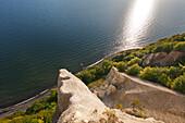 chalk cliffs, Viktoriasicht, Jasmund national park, Ruegen, Baltic Sea, Mecklenburg-West Pomerania, Germany