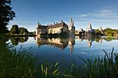 Lembeck moated Castle, Muensterland, North-Rhine Westphalia, Germany
