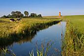 Pilsum lighthouse, near Greetsiel, East Friesland, Lower Saxony, Germany