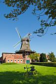 Windmill museum, Pewsum, East Friesland, Lower Saxony, Germany