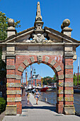 Gate at the Ratsdelft, Emden,  East Friesland, Lower Saxony, Germany