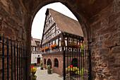 Old Town Hall, Doerrenbach, Palatinate Forest, Rhineland-Palatinate, Germany