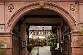 Old post station, Bacharach, Rhine river, Rhineland-Palatinate, Germany