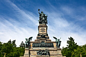 Niederwald memorial, near Ruedesheim, Rhine river, Hesse, Germany