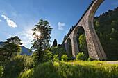 Railway viaduct, Ravennaschlucht, Black Forest, Baden-Wuerttemberg, Germany