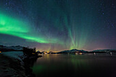 Northern lights, Aurora borealis, Hinnoya, Lofoten Islands, Norway, Skandinavia, Europe