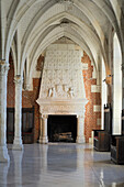 France, Indre et Loire, Amboise, Loire Valley listed as World Heritage by UNESCO, Chateau d'Amboise, the dwelling of the King, Council Room, the chimney