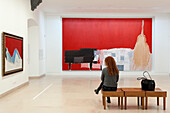France, Alpes Maritimes, Antibes, Picasso Museum, room and artwork by Nicolas de Stael