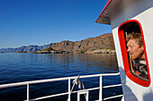 Norway, Nordland County, Lofoten Islands, departure of the boat for fishing