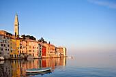 Croatia, Istria, Adriatic coast, Rovinj, dominated by the church of St Eufemia