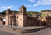 Peru, Cuzco Province, Cuzco, listed as World Heritage by UNESCO, Plaza de Armas, Our Lady of the Assumption Cathedral of Colonial Baroque style built in the 16th century