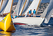 'Yawl ''Skylark'', naval architect Sparkman & Stephens 1937, Classic Sailing Regatta ''Régates Royales'', Cannes, Côte d'Azur, France'