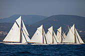 'Start of the Classic Sailing Regatta ''Les Voiles de St. Tropez'', St. Tropez, Côte d'Azur, France'