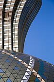 Architectural detail on exterior of Grand Lisboa Hotel & Casino, Macau, Macau, China