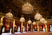France, Paris, the reception hall of the Palais de l'Elysee, headquarters of the Presidency of the French Republic