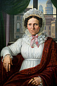 Germany, Berlin, Museum Island, listed as World Heritage by UNESCO, the museum of the former National Gallery (Alte Nationalgalerie), painting by Johann Erdmann Hummel (1769-1852) portrait of Luise Mila