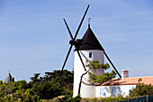 France, Vendee, Ile de Noirmoutier, La Gueriniere, the mill of la Bosse Beach